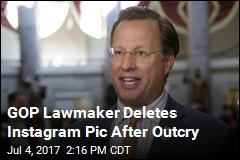 GOP Lawmaker Deletes Instagram Pic After Outcry