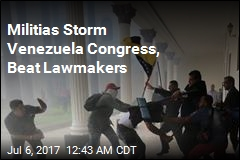 Militias Storm Venezuela Congress, Beat Lawmakers