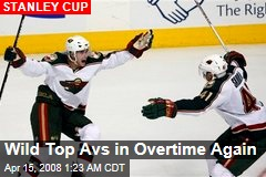 Wild Top Avs in Overtime Again