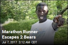 Marathon Runner Escapes 2 Bears