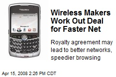 Wireless Makers Work Out Deal for Faster Net