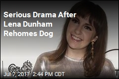 Serious Dog Drama for Lena Dunham