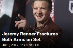 Jeremy Renner Fractures Both Arms on Set