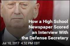 How a High School Newspaper Scored an Interview With the Defense Secretary