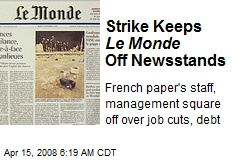 Strike Keeps Le Monde Off Newsstands