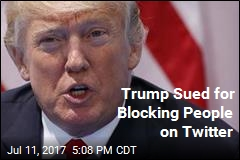 Trump Sued for Blocking People on Twitter