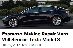 Espresso-Making Repair Vans Will Service Tesla Model 3