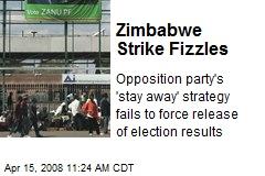 Zimbabwe Strike Fizzles
