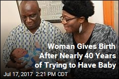 Woman Gives Birth After Nearly 40 Years of Trying to Have Baby