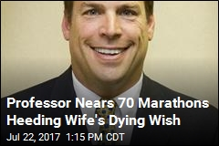 Professor Nears 70 Marathons Heeding Wife's Dying Wish