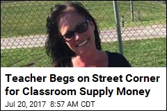 Tulsa Teacher Panhandles for Classroom Supply Money