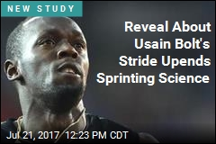 Fastest Man in the World Has Uneven Stride
