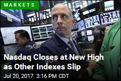 Nasdaq Closes at New High as Other Indexes Slip