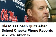 Ole Miss Coach Quits Over Call to Escort Service