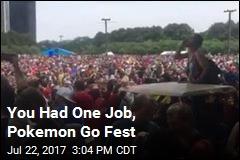 Shockingly Little Pokemon Go at Pokemon Go Fest