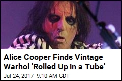 Alice Cooper Finds Vintage Warhol 'Rolled Up in a Tube'