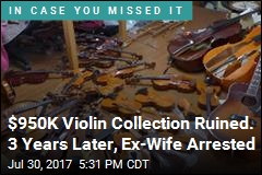 Woman Accused of Destroying Ex's $950K Violin Collection