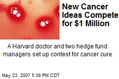 New Cancer Ideas Compete for $1 Million