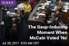 The Gasp-Inducing Moment When McCain Voted 'No'