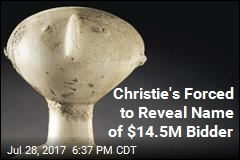 Christie's Forced to Reveal Name of $14.5M Bidder