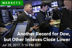Another Record for Dow, but Other Indexes Close Lower