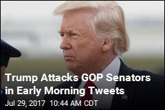 Trump Attacks GOP Senators in Early Morning Tweets