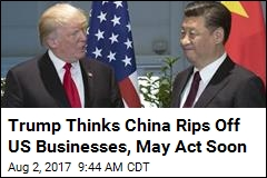 Trump Poised to Go After China on Business Theft