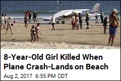 Sunbathing Man, Girl Killed When Plane Lands on Beach