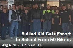 50 Bikers Walk Bullied Kid to School