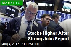 Stocks Higher After Strong Jobs Report