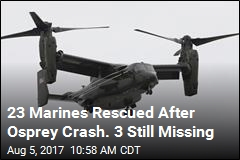 3 Marines Missing After Osprey Crashes Off Australia