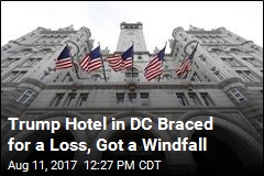 Trump Hotel in DC Braced for a Loss, Got a Windfall