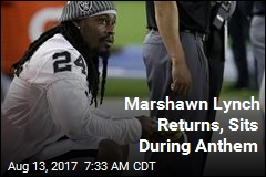 Marshawn Lynch Returns, Sits During Anthem