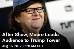 Michael Moore Leads Broadway Audience to Trump Tower