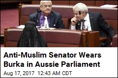 Anti-Muslim Aussie Lawmaker Wears Burka in Parliament
