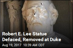 Duke Removes Defaced Robert E. Lee Statue