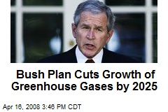 Bush Plan Cuts Growth of Greenhouse Gases by 2025
