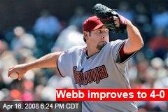 Webb improves to 4-0