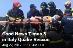 Good News Times 3 in Italy Quake Rescue