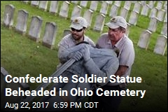 Head Knocked Off Confederate Soldier Statue in Cemetery