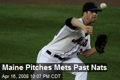 Maine Pitches Mets Past Nats