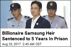 Samsung Heir Sentenced to 5 Years In Prison