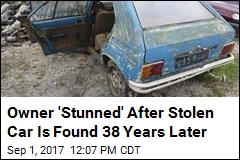 Car Pulled From 'Watery Grave' 38 Years After It Was Stolen