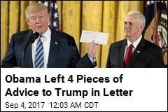 Obama Left 4 Pieces of Advice to Trump in Letter