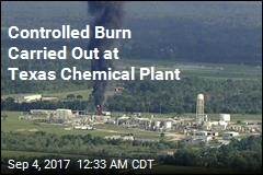 Controlled Burn Carried Out at Flooded Chemical Plant