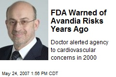 FDA Warned of Avandia Risks Years Ago