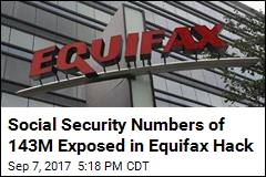 Social Security Numbers of 143M Exposed in Equifax Hack