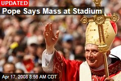 Pope Says Mass at Stadium