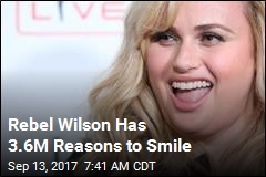 Rebel Wilson Has 3.6M Reasons to Smile