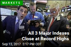 All 3 Major Indexes Close at Record Highs